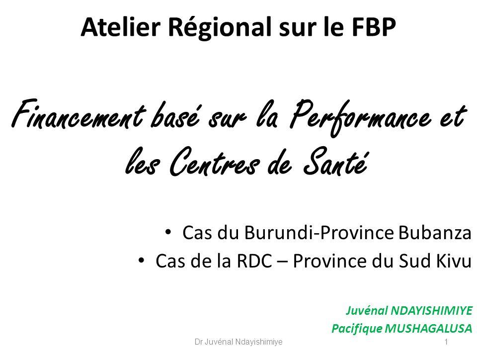 Atelier Régional sur le FBP
