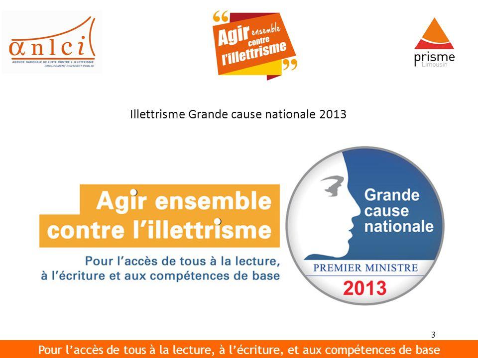 Illettrisme Grande cause nationale 2013
