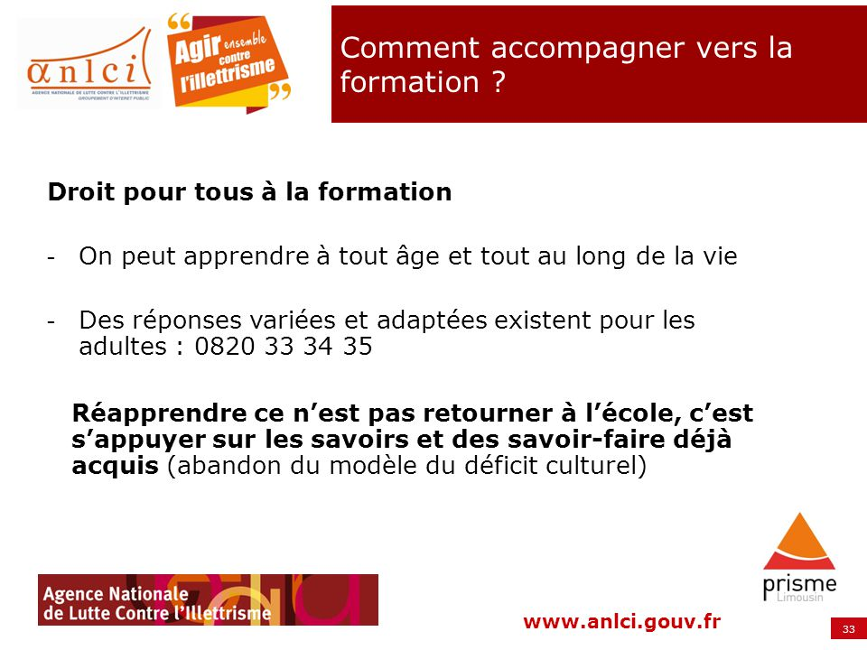 Comment accompagner vers la formation