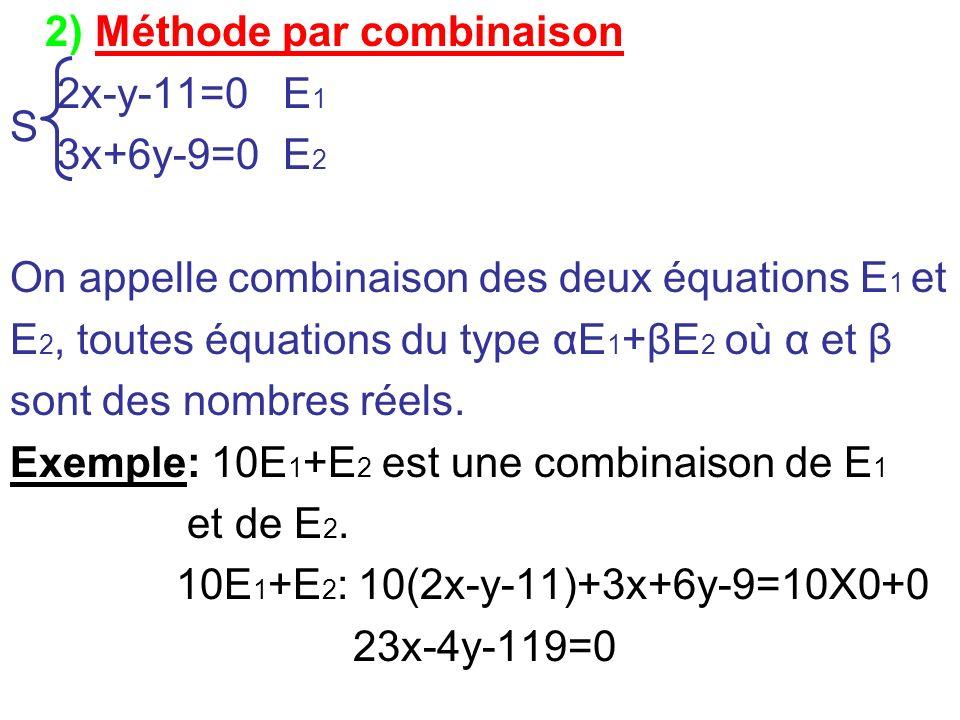 2) Méthode par combinaison