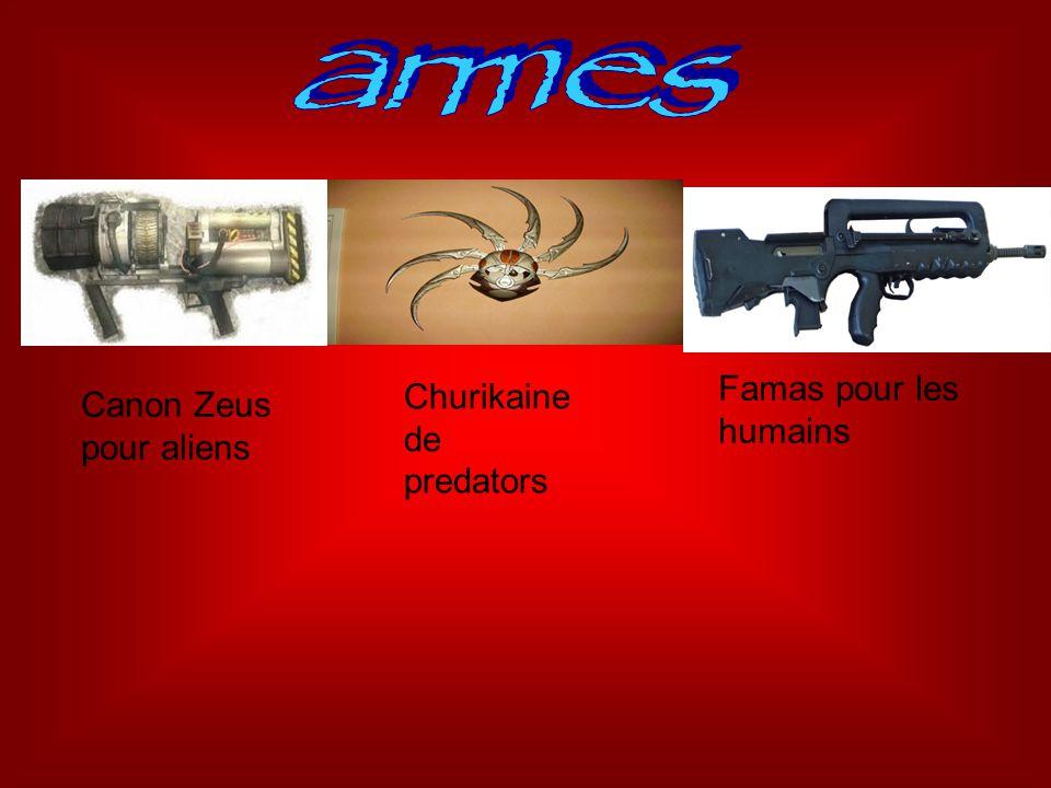 armes Famas pour les humains Churikaine de predators