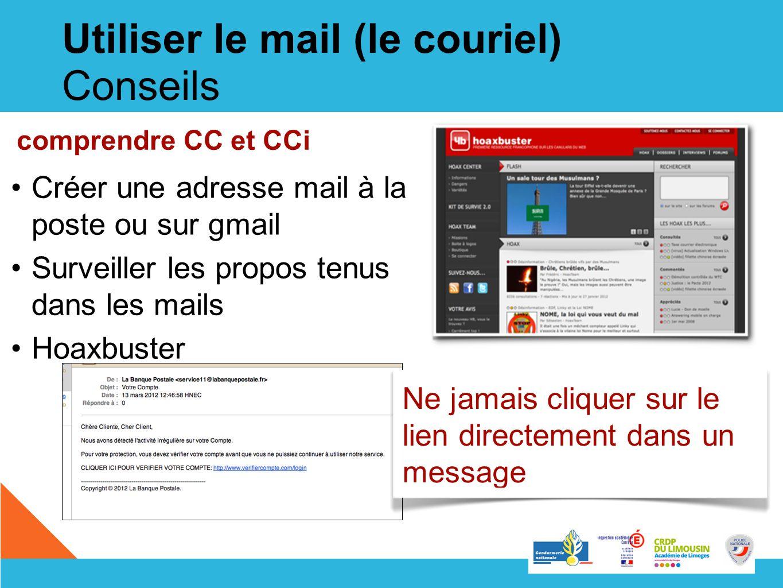 Utiliser le mail (le couriel) Conseils