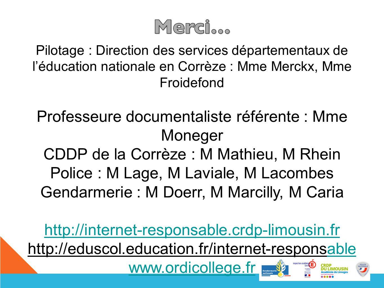 Professeure documentaliste référente : Mme Moneger