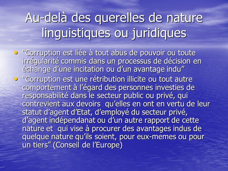 Au-delà des querelles de nature linguistiques ou juridiques