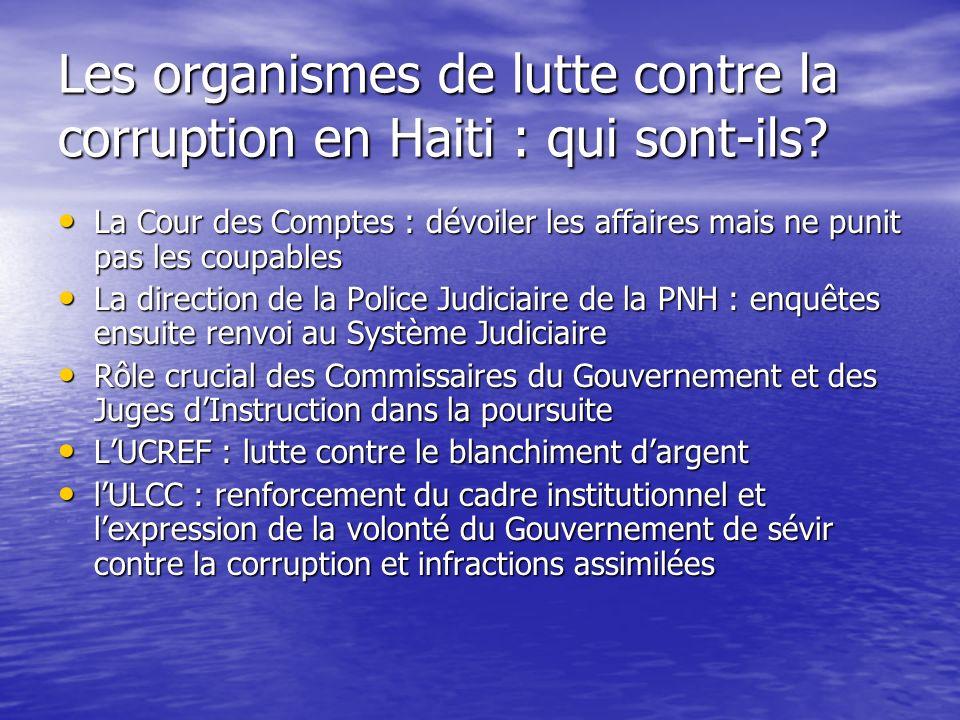 Les organismes de lutte contre la corruption en Haiti : qui sont-ils