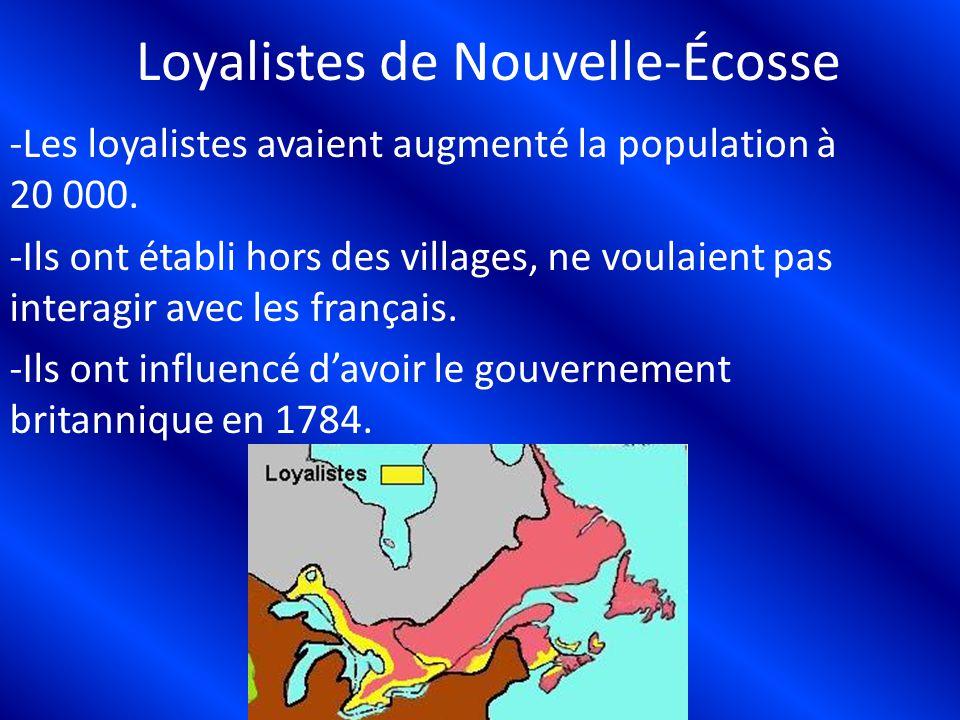Loyalistes de Nouvelle-Écosse