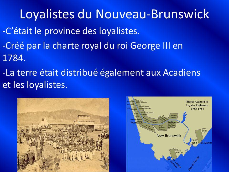 Loyalistes du Nouveau-Brunswick