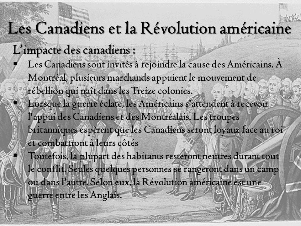 Les Canadiens et la Révolution américaine