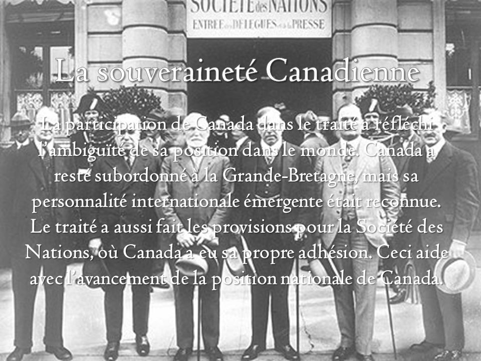 La souveraineté Canadienne