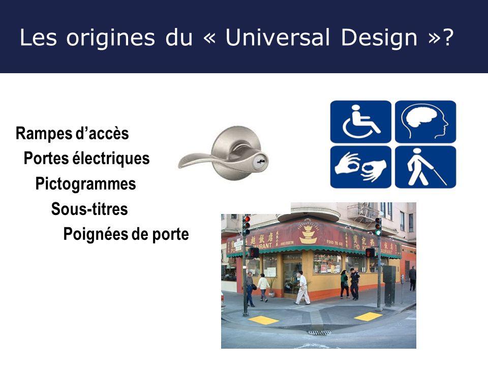 Les origines du « Universal Design »