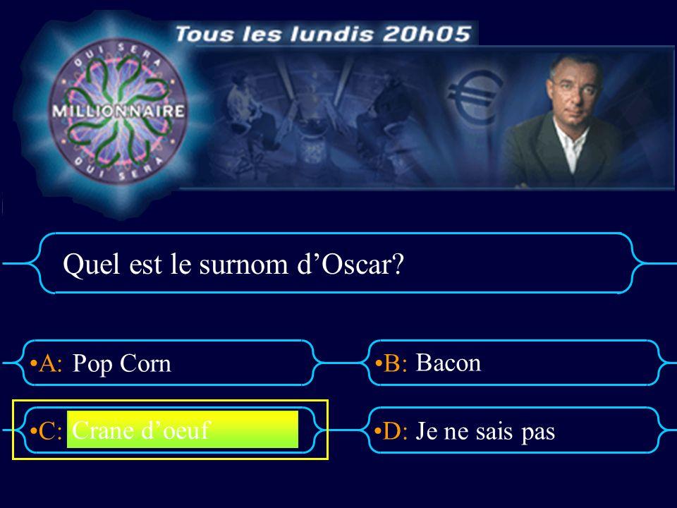 Quel est le surnom d'Oscar