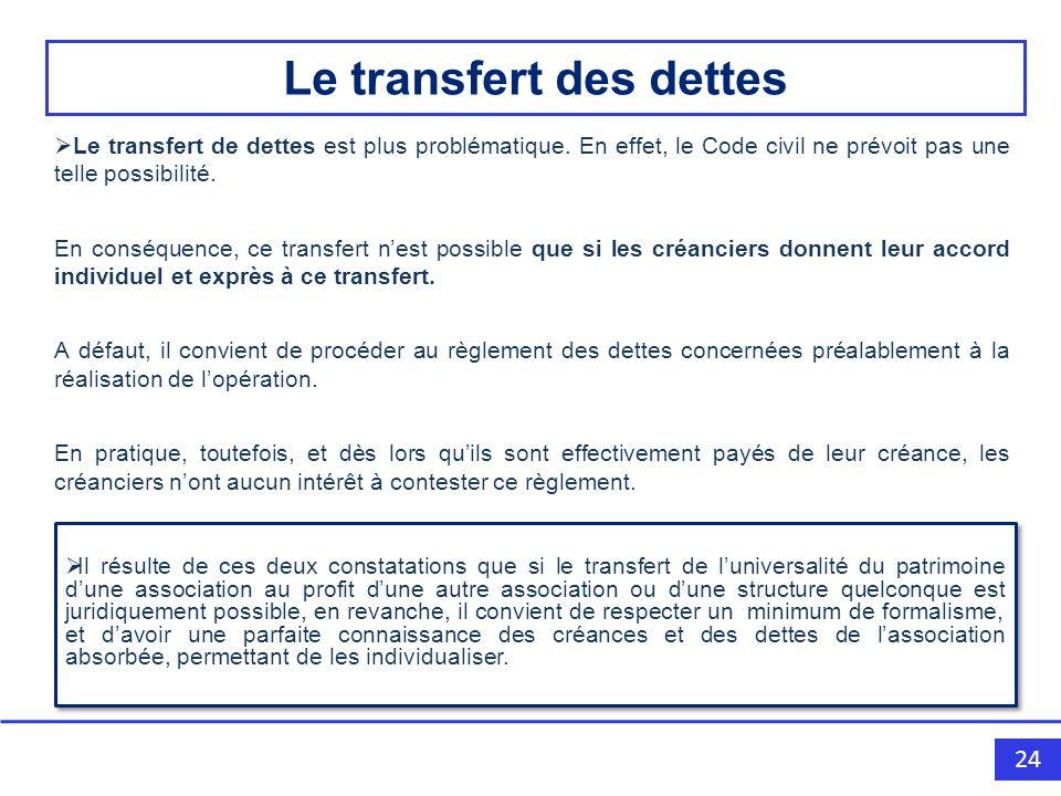 Le transfert des dettes
