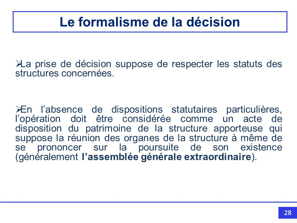 Le formalisme de la décision