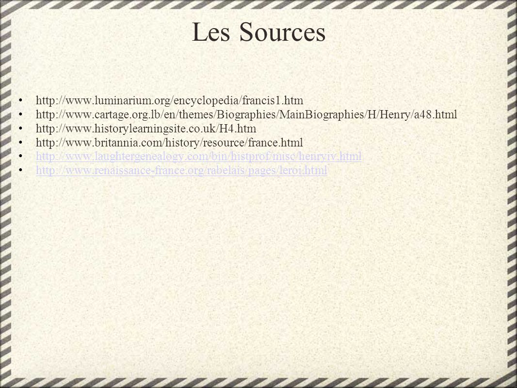 Les Sources http://www.luminarium.org/encyclopedia/francis1.htm