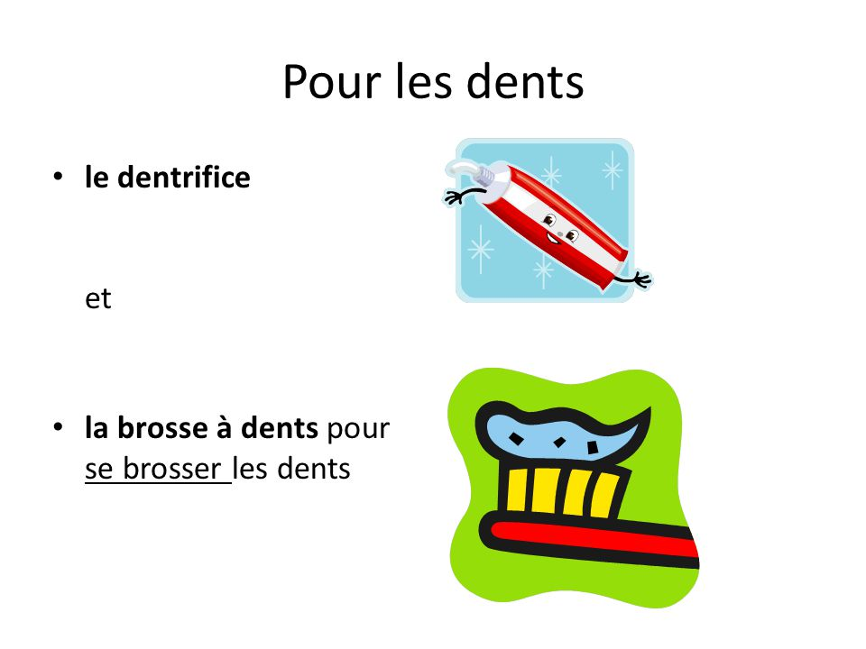 Pour les dents le dentrifice et
