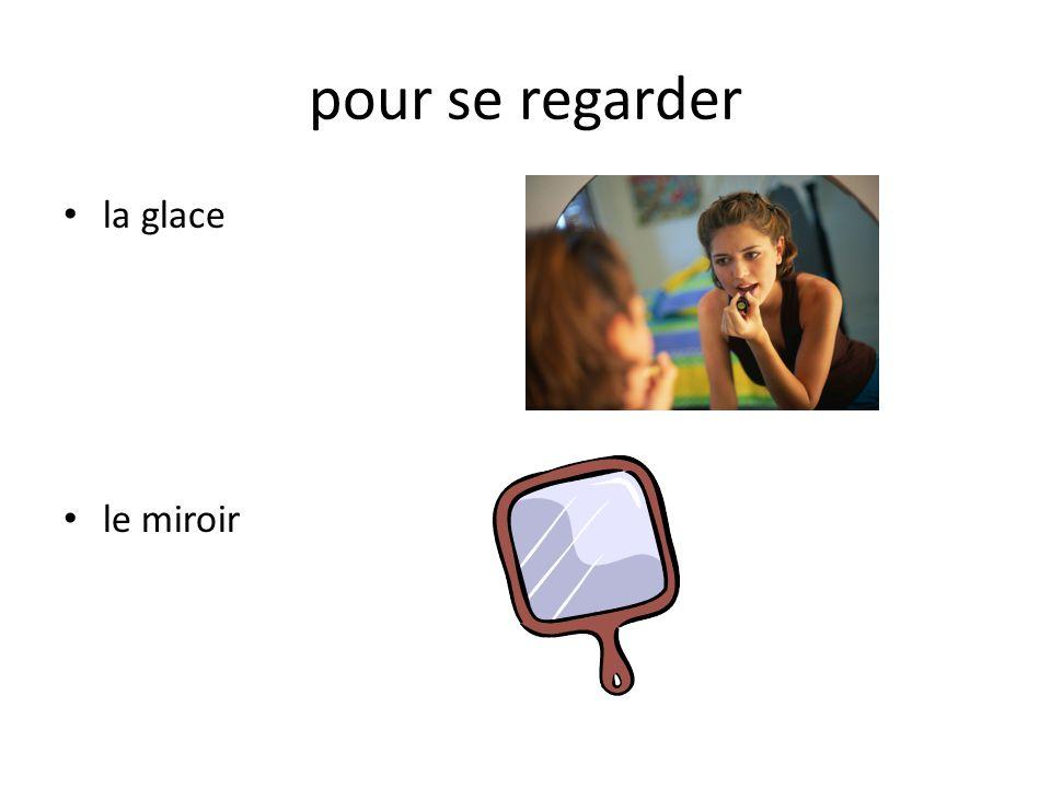 pour se regarder la glace le miroir