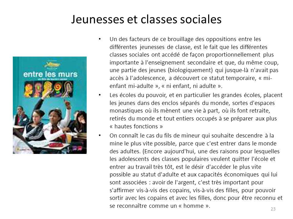 Jeunesses et classes sociales