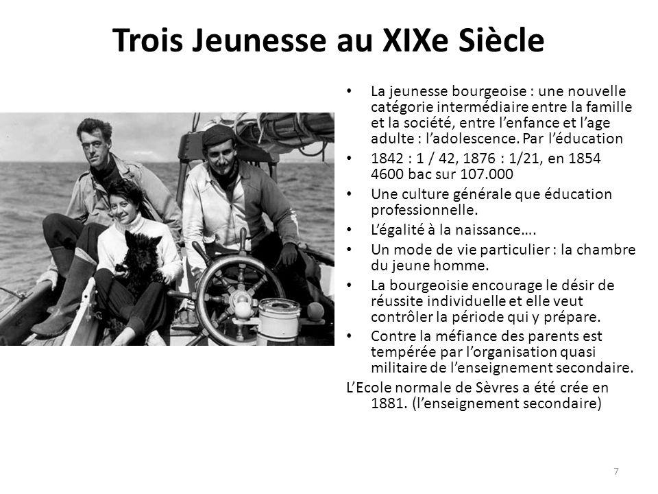 Trois Jeunesse au XIXe Siècle