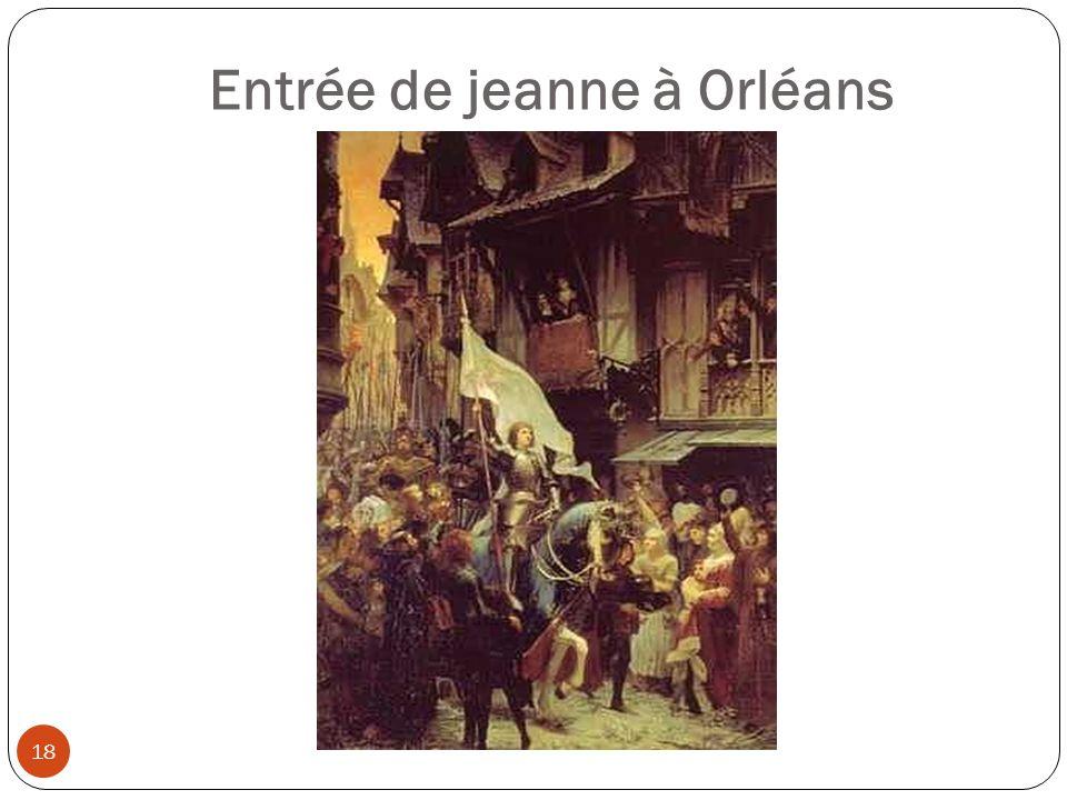 Entrée de jeanne à Orléans