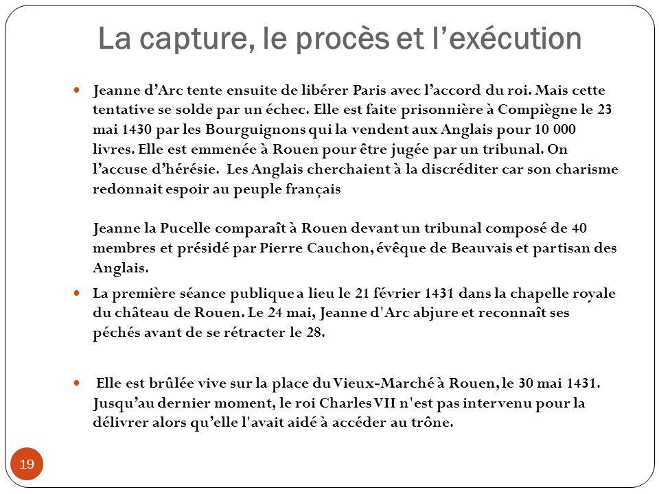 La capture, le procès et l'exécution