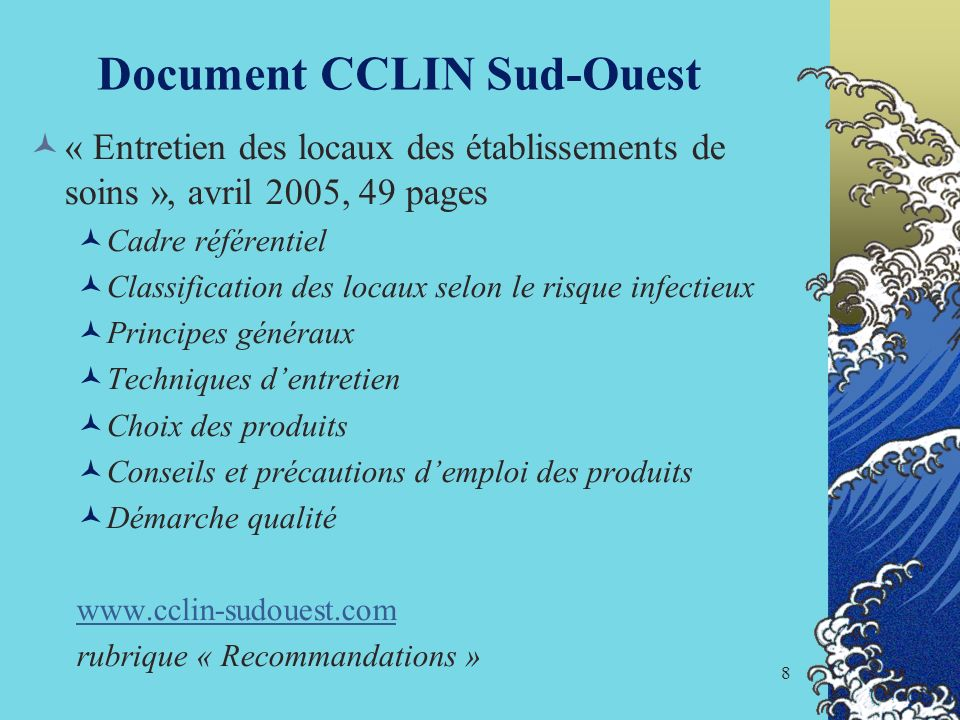 Document CCLIN Sud-Ouest