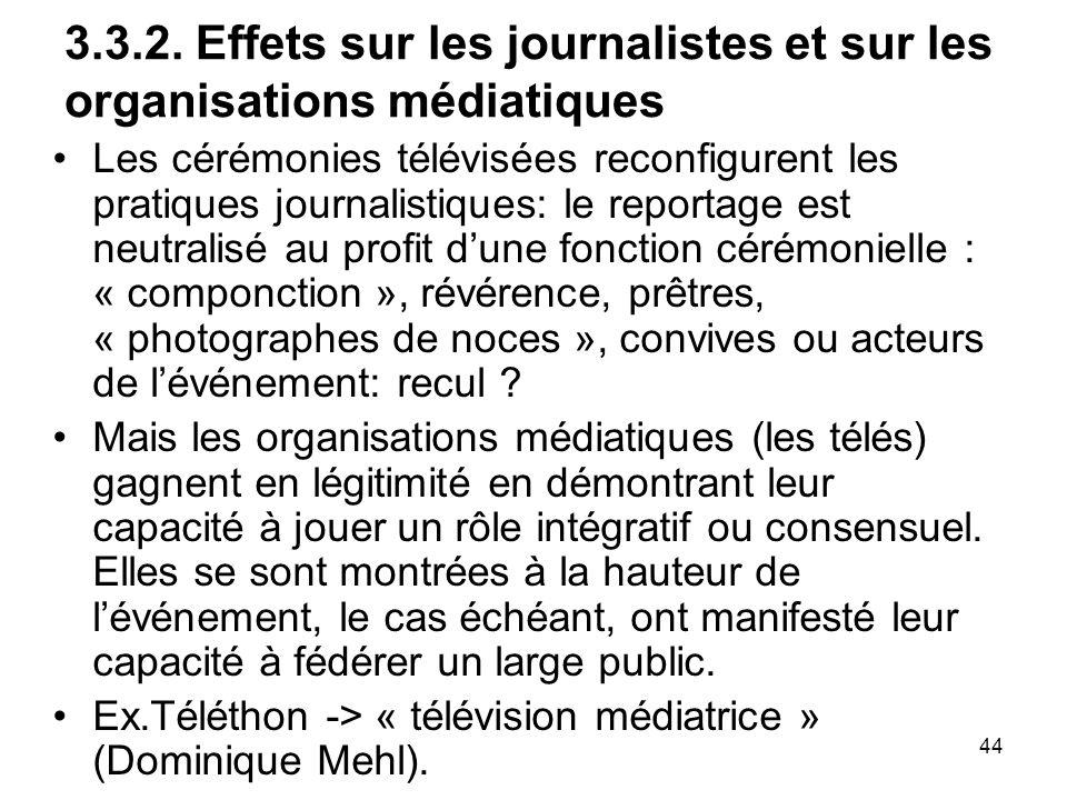 3.3.2. Effets sur les journalistes et sur les organisations médiatiques