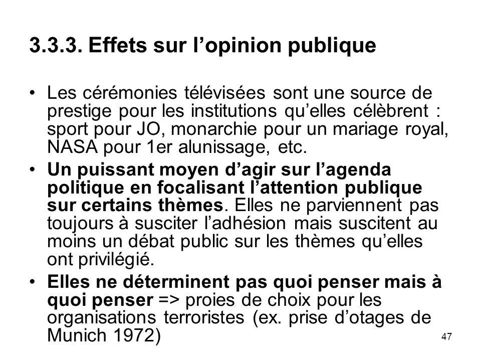 3.3.3. Effets sur l'opinion publique