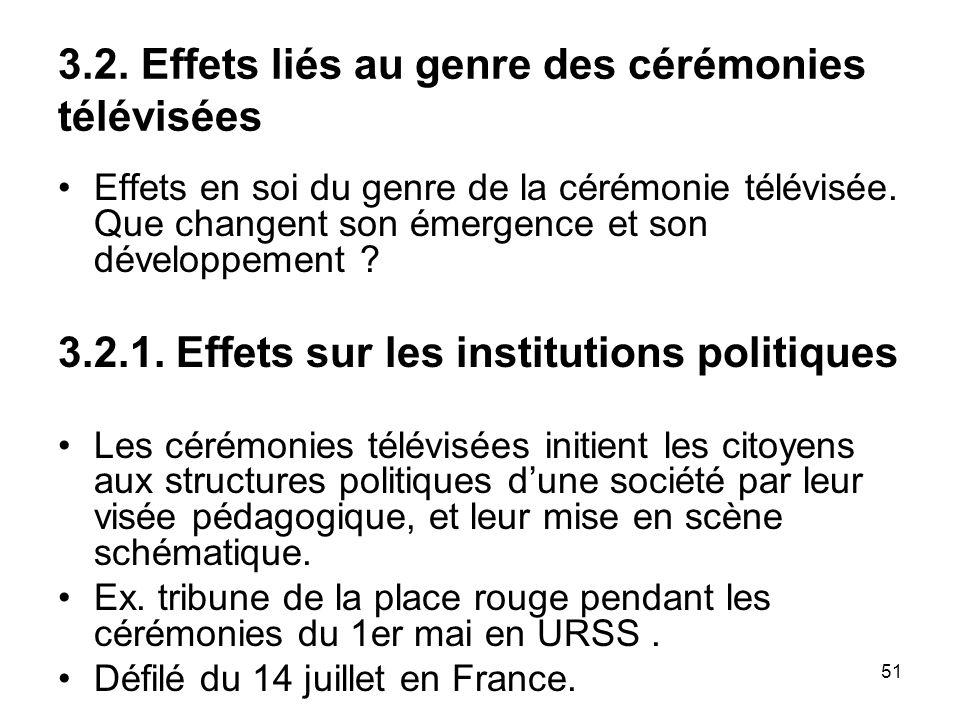 3.2. Effets liés au genre des cérémonies télévisées