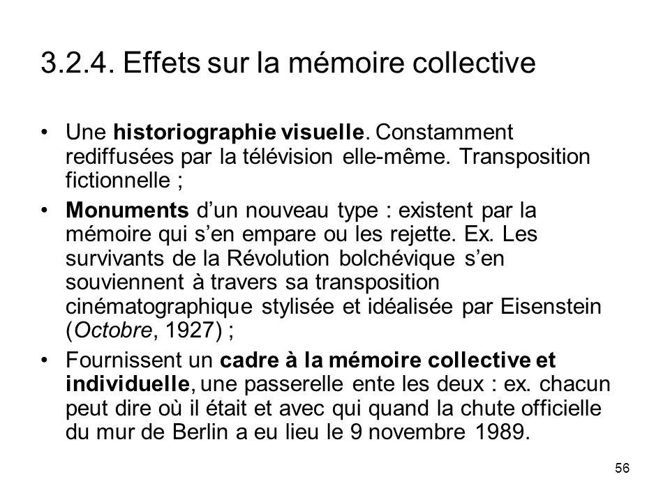3.2.4. Effets sur la mémoire collective