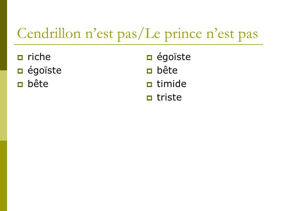 Cendrillon n'est pas/Le prince n'est pas