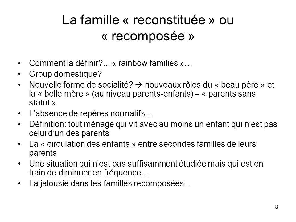 La famille « reconstituée » ou « recomposée »