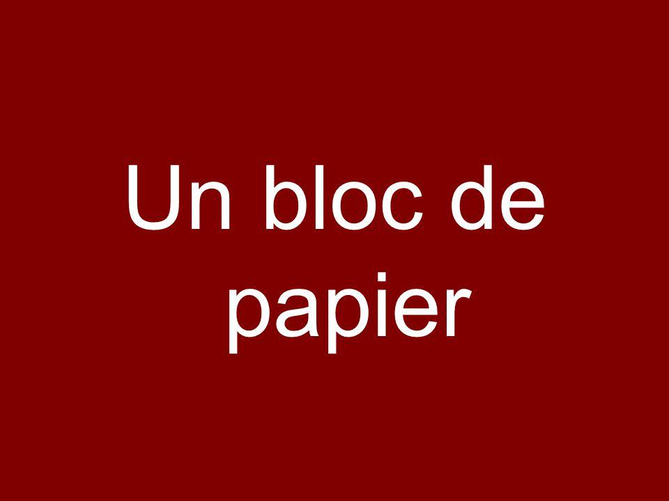 Un bloc de papier