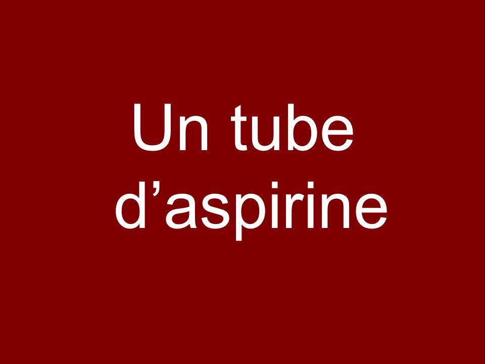 Un tube d'aspirine