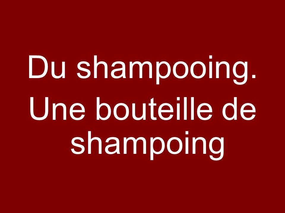 Une bouteille de shampoing