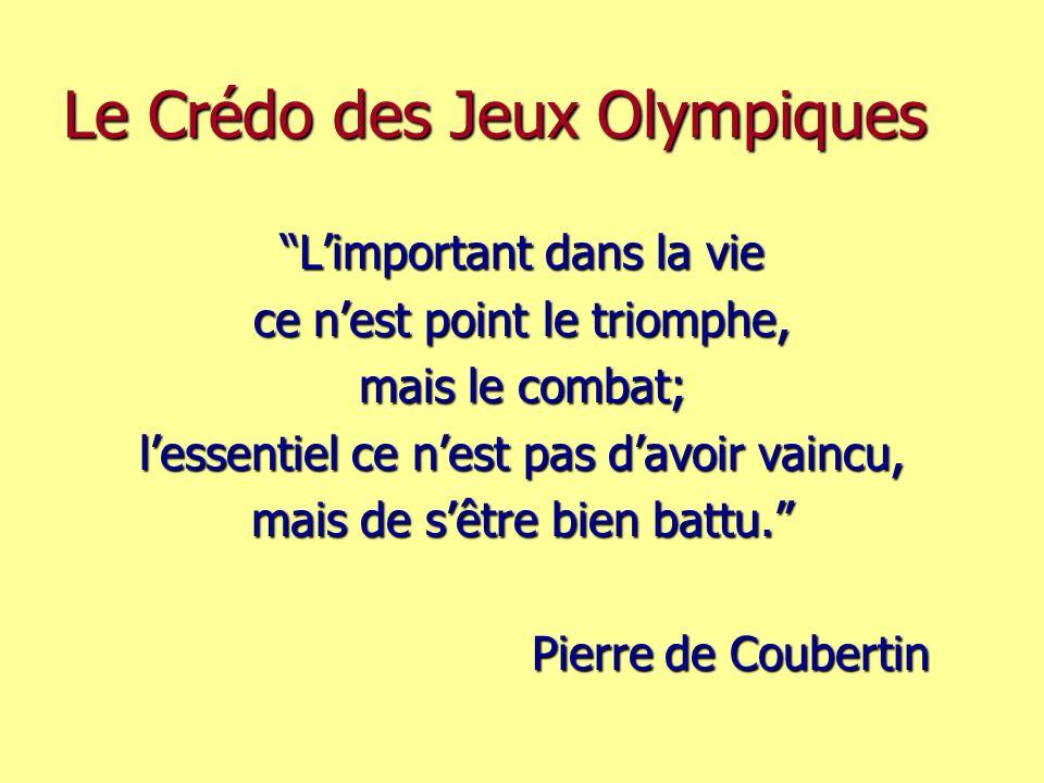 Le Crédo des Jeux Olympiques
