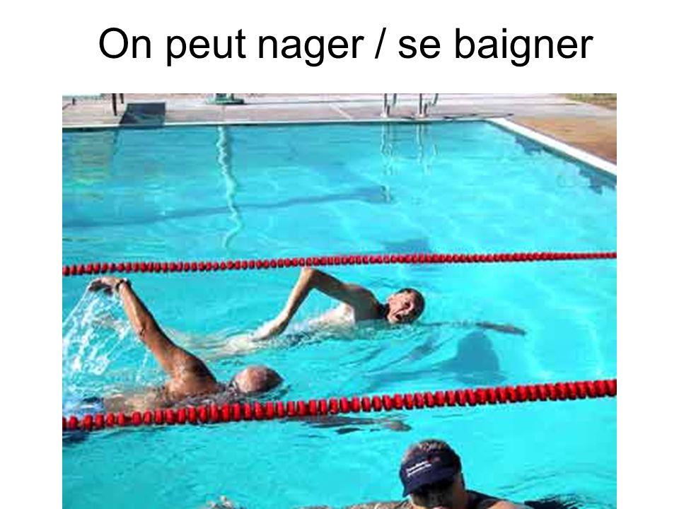 On peut nager / se baigner