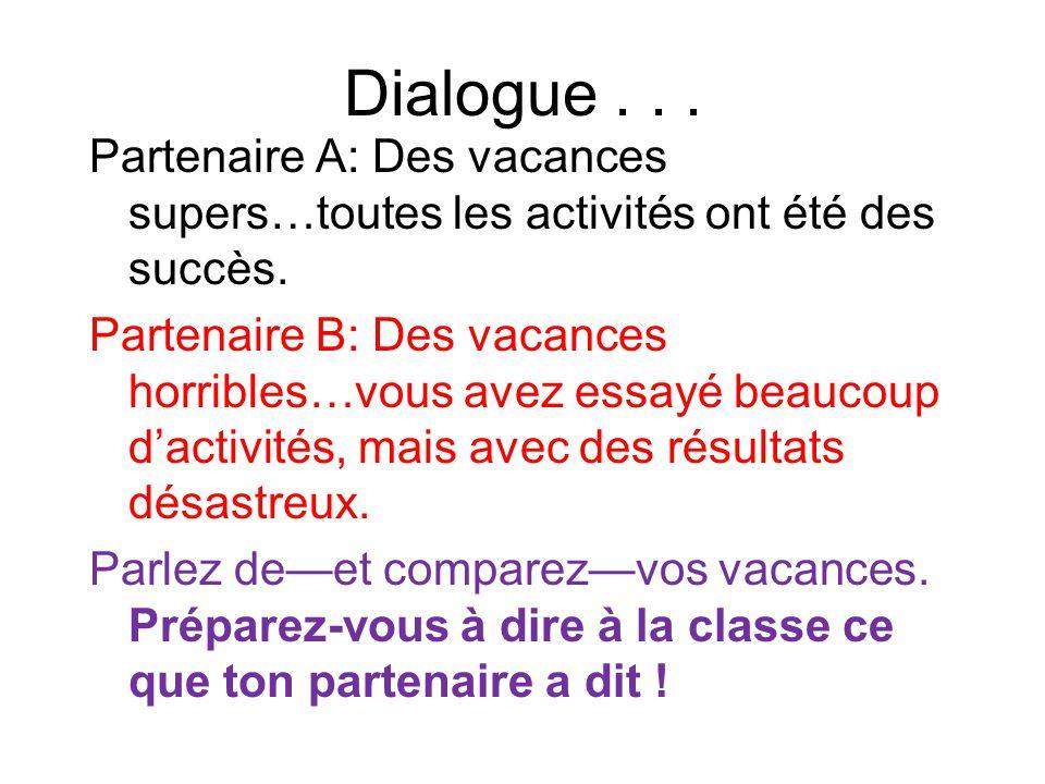 Dialogue . . .