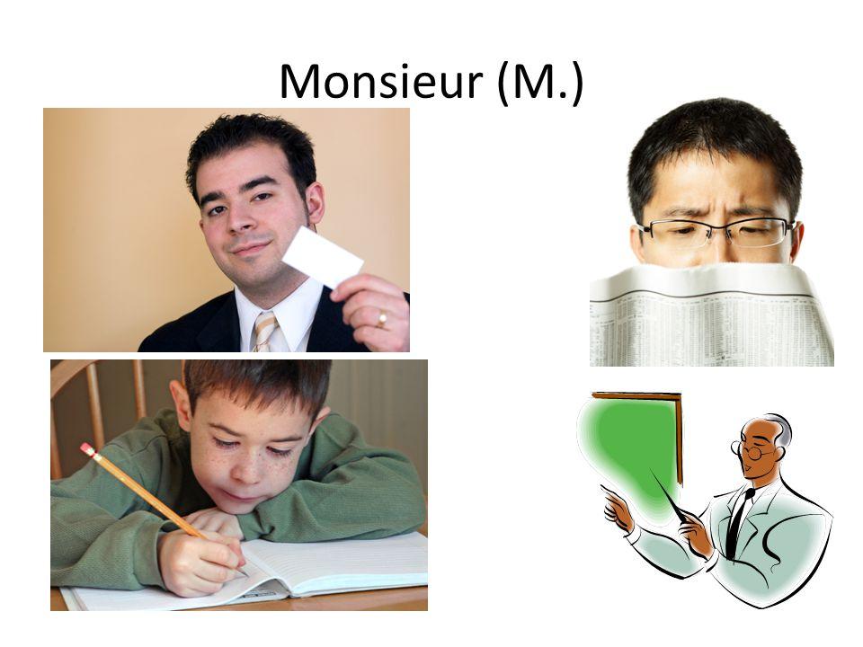 Monsieur (M.)