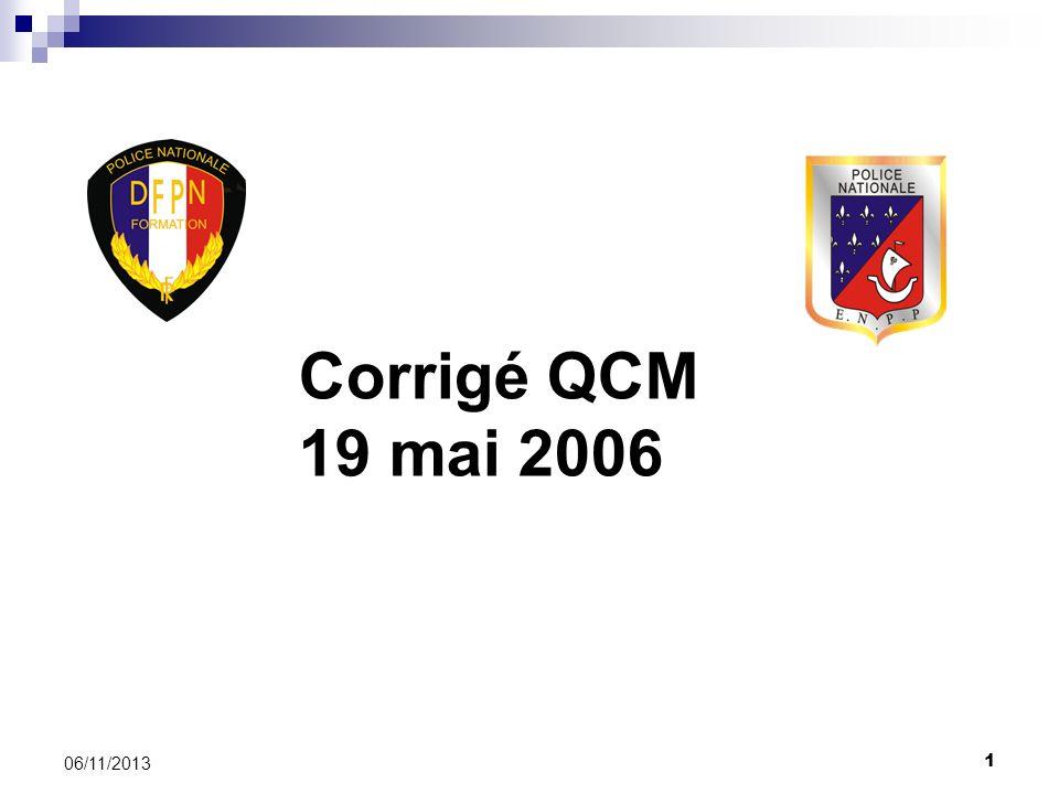 Corrigé QCM 19 mai 2006 25/03/2017