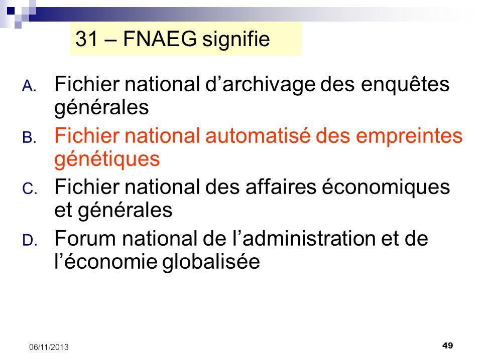 Fichier national d'archivage des enquêtes générales