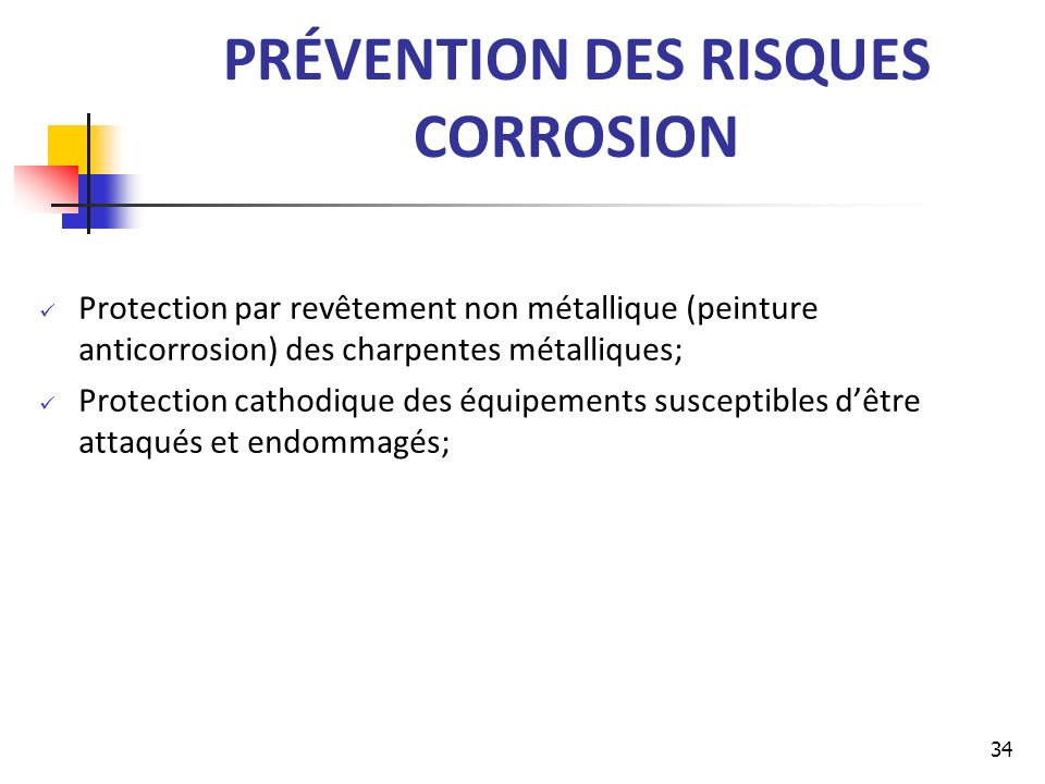 PRÉVENTION DES RISQUES CORROSION