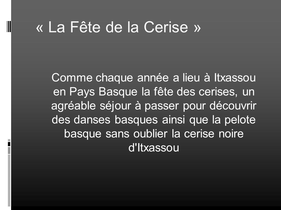 « La Fête de la Cerise »