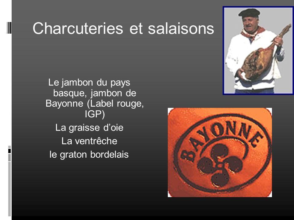Le jambon du pays basque, jambon de Bayonne (Label rouge, IGP)