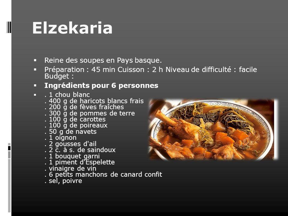 Elzekaria Reine des soupes en Pays basque.