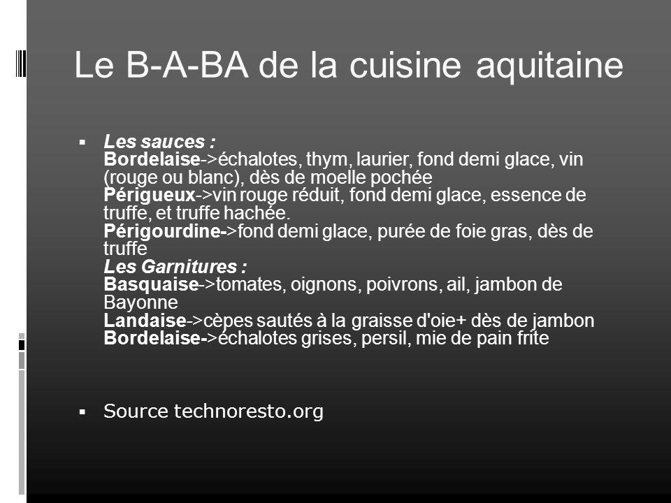 Le B-A-BA de la cuisine aquitaine