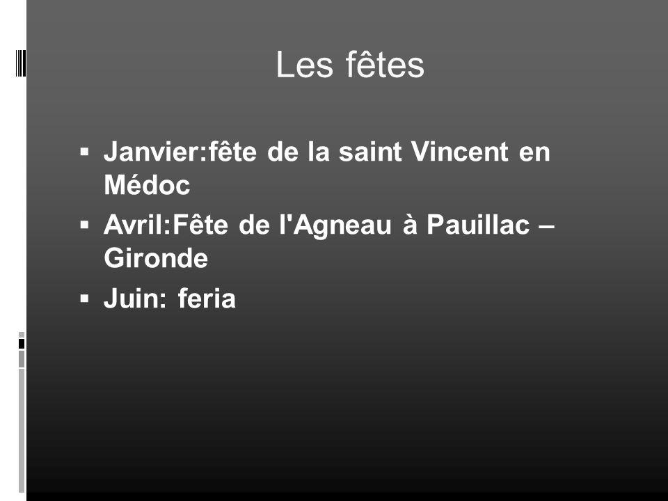 Les fêtes Janvier:fête de la saint Vincent en Médoc