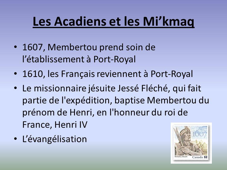 Les Acadiens et les Mi'kmaq