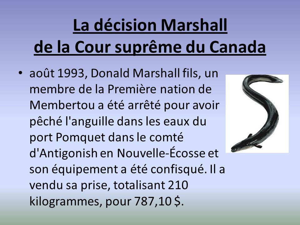 La décision Marshall de la Cour suprême du Canada