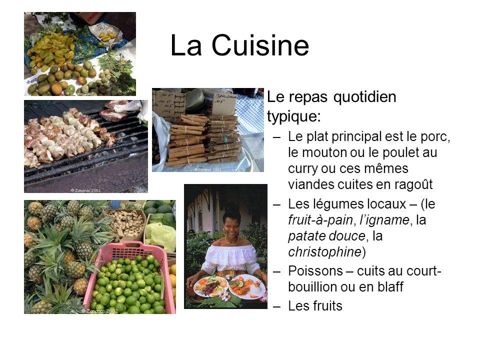 La Cuisine Le repas quotidien typique: