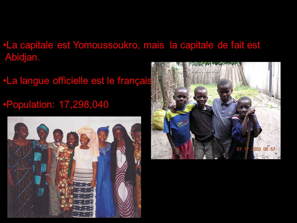 La capitale est Yomoussoukro, mais la capitale de fait est